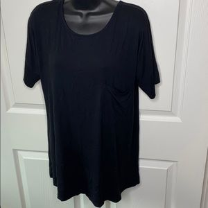 NWOT pink lily boutique strappy back tunic black